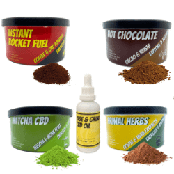All 4 products from rise and grind elixirs