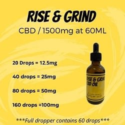 Rise & Grind CBD Oil - 1500 mg 60ml 3