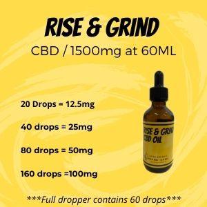 Rise & Grind CBD Oil - 1500 mg 60ml 3